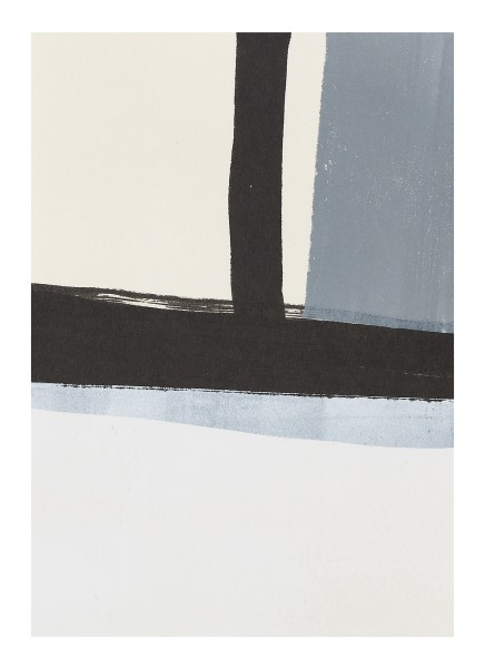 Monika Huber #019452 grey / white / black (C), 2011 Printing color on paper 21 x 14,75 cm