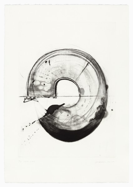 Takesada Matsutani #021621 Cercle 16-2 (Black), 2016 Etching on BFK paper. Edition 14/20. Edition Franck Riva, printed at Atelier Moret 90 x 63 cm