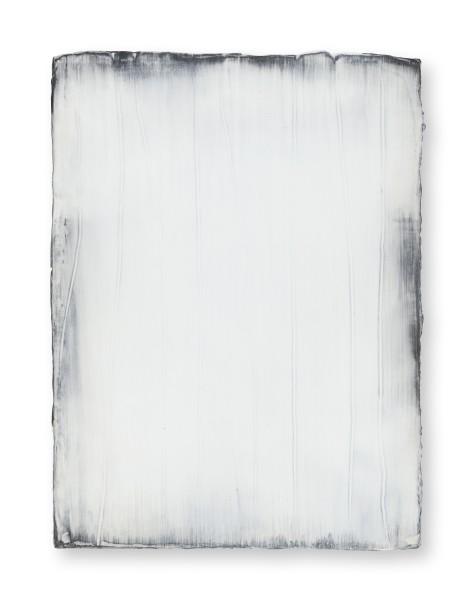 Hideaki Yamanobe #021819 Daylight white 2018-3, 2018 Acrylic on nettle 40 x 30 x 3,5 cm