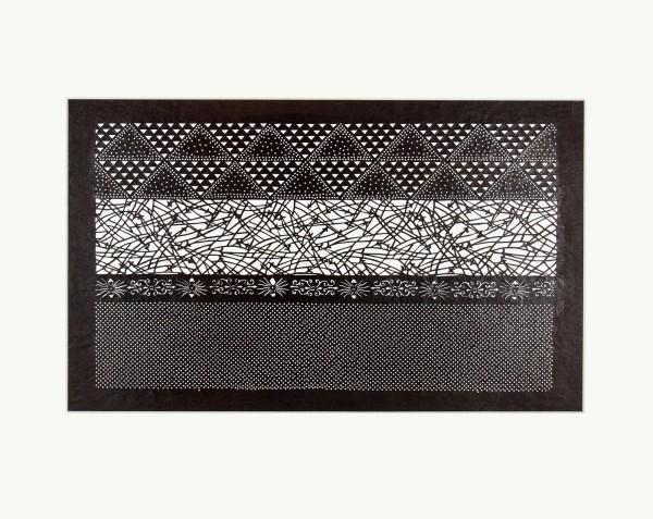 Katagami / Uwagami, #016793 Katagami (Textilfärbeschablone), Japan, Späte Edo-Zeit / Meiji-Zeit (2. H. 19. Jh. / Anfang 20. Jh.)