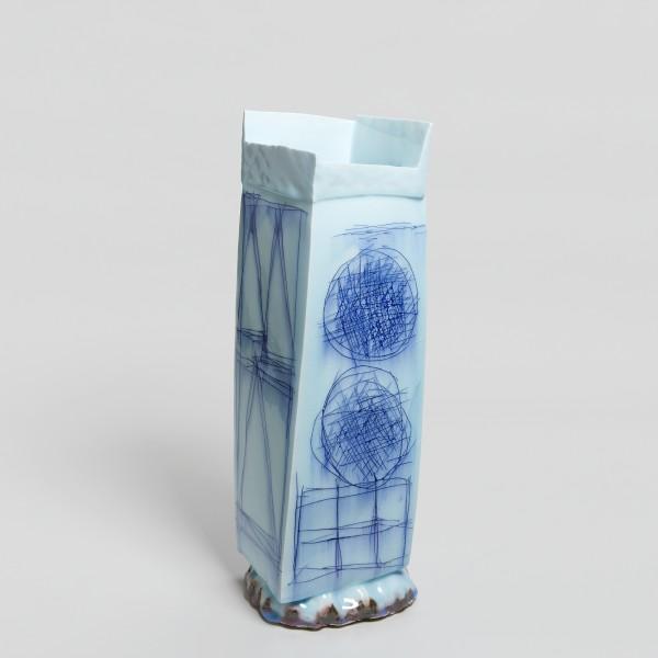 Masamichi Yoshikawa #021941 Kayho (Luxuriant pottery palace), 2019 Porzellan mit Seihakuji-Glasur 52 x 17 x 16,5 cm
