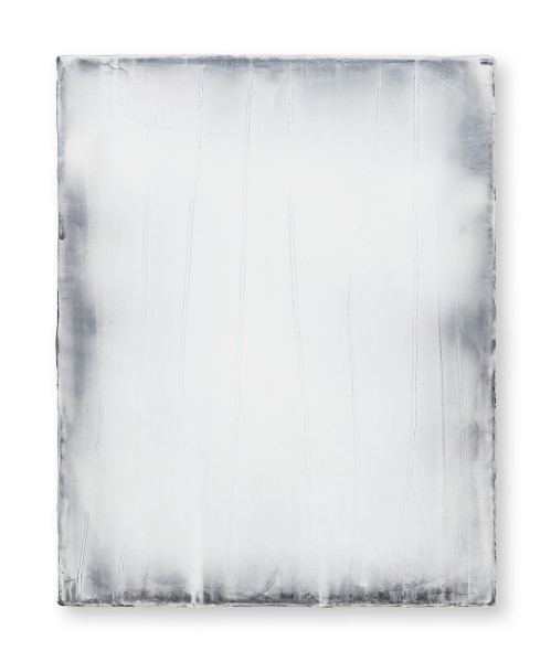 Hideaki Yamanobe #021822 Daylight white 2018-2, 2018 Acrylic on nettle 48 x 38 3,5 cm