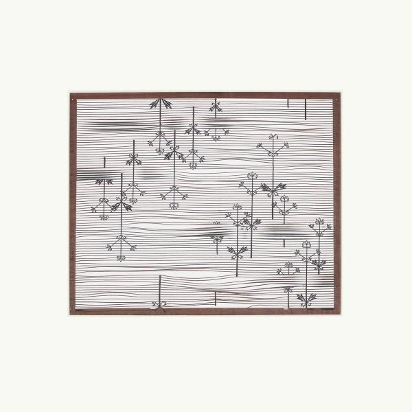 Katagami / Uwagami, #016509 Katagami (Textilfärbeschablone), Japan, Späte Edo-Zeit / Meiji-Zeit (2. H. 19. Jh. / Anfang 20. Jh.)
