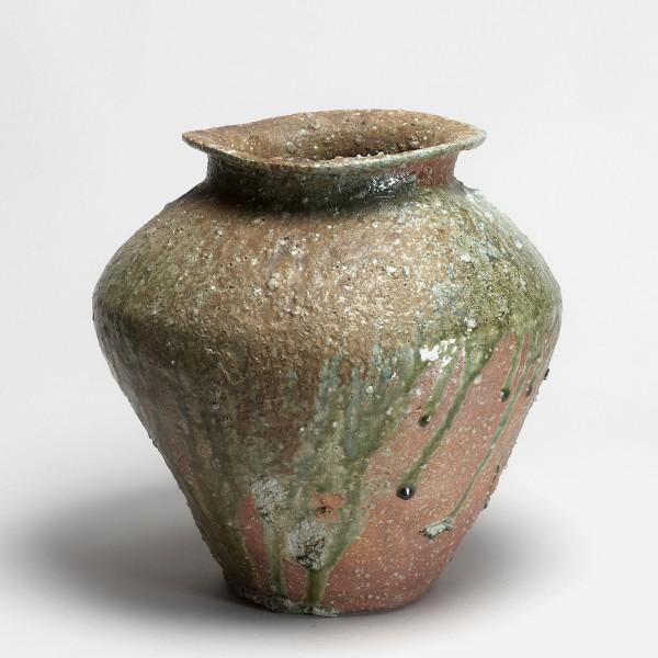 Shiro Tsujimura, #008836 Vorratsgefäß (tsubo), hirokuchi-Typ, shigaraki, um 1999