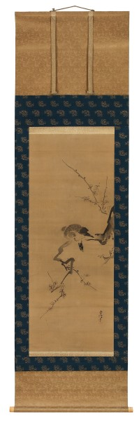 Malerei, #019517 KANÔ TSUNENOBU (1636 -1713), Bird on a plum branch, Edo (1600-1868)