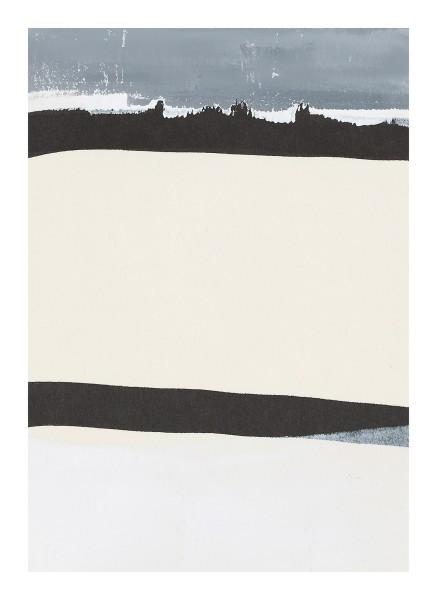 Monika Huber #019450 grey / white / black (A), 2011 Printing color on paper 21 x 14,75 cm