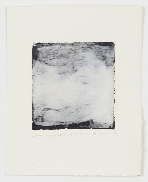 Hideaki Yamanobe #021542 Landscape 2017 S-3, 2017 Acrylic on paper on hand made paper 28,5 x 22,5 cm