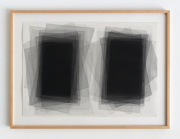 Joachim Bandau #021798 o.T., 26.12.2008, 2008 Aquarell auf 'Fabriano 5' Bütten 70 x 98 cm (Ahorn – Rahmen 115 x 85 cm)