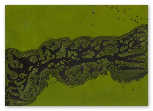 Hiroko Nakajima #021891 Arbre de vie VI, 2018 Tusche, Pigment auf Leinwand 100 x 140 x 4 cm