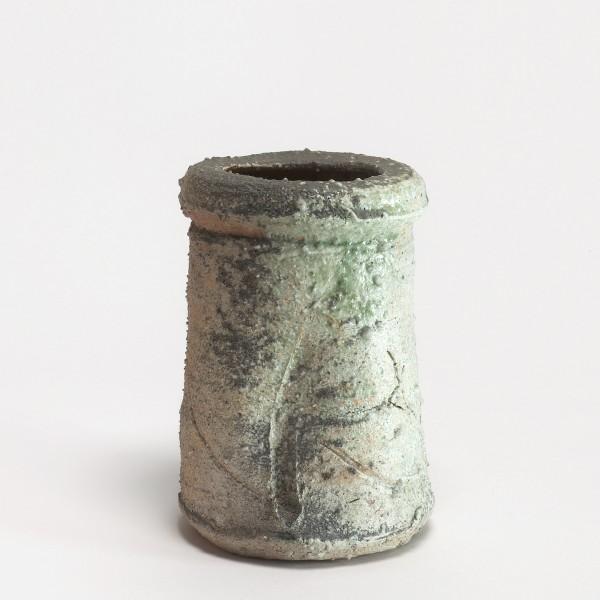 Shiro Tsujimura, #000707 Vase (Hanaire), Shigaraki-Stil, ca 1985