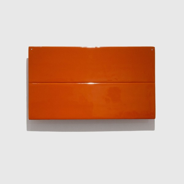 Joachim Bandau #021914 o.T., 2008 / rot, 2008 Bagan-Lack über Holzkern 18 x 31,5 cm
