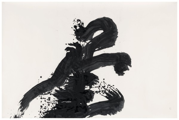 YU-ICHI (Inoue Yûichi) #021365 Shoku (to belong to, to pay attention to), 1966 Tusche auf Japanischem Papier 146 x 221,5 cm