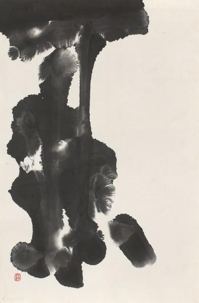 SHO-Künstler, #016271 Chiba Hangai (*1931), Tuscheform, um 1960