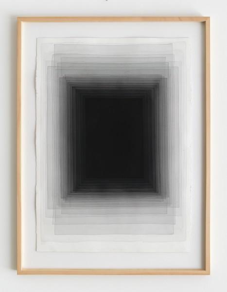 Joachim Bandau #021910 o.T., 19.11.2015 / EG 1, 2015 Aquarell auf 'Fabriano 5' Bütten 98 x 70 cm (Ahorn – Rahmen 115 x 85 cm)