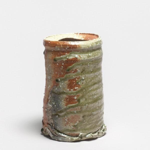 Shiro Tsujimura, #000703 Vase hanaire (shigaraki-Typ), um 1992