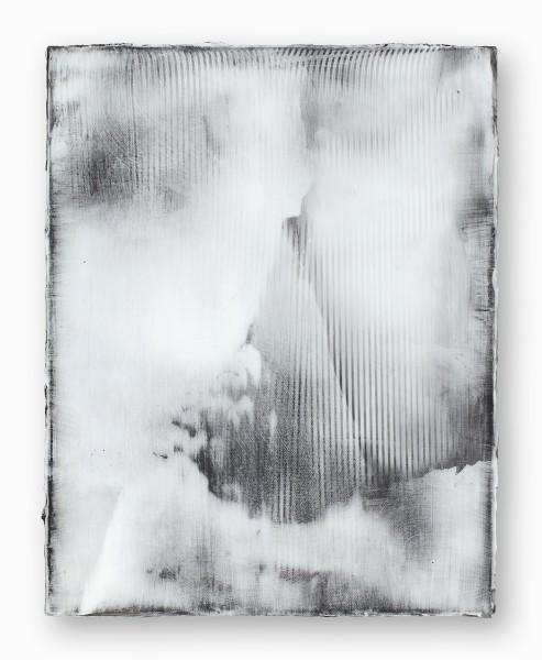 Hideaki Yamanobe #020750 Scratch S-30-a, 2015 Acryl auf Nessel 48 x 38 x 3,5 cm