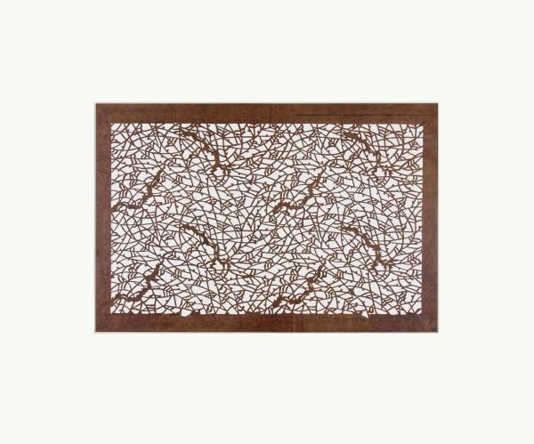 Katagami / Uwagami, #014732 Katagami (Textilfärbeschablone), Japan, Späte Edo-Zeit / Meiji-Zeit (2. H. 19. Jh. / Anfang 20. Jh.)