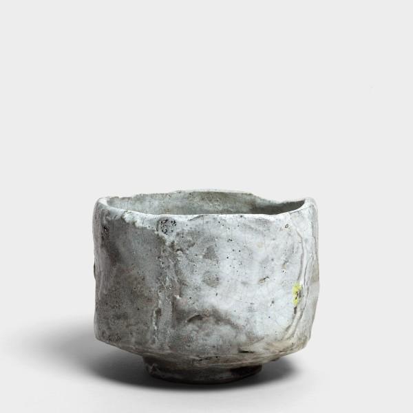 Kei Tanimoto, #020161 Weiße Iga Raku-Teeschale (iga shiro raku chawan), Sumigama Brand, 2013