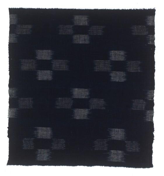 Textilien, #004164 Kasuri, Sich wiederholendes Kreuzmuster aus Streifenvierecken, 19. Jh.