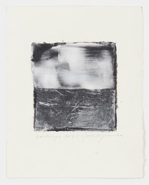 Hideaki Yamanobe #021540 Landscape 2017 S-1, 2017 Acrylic on paper on hand made paper 28,5 x 22,5 cm