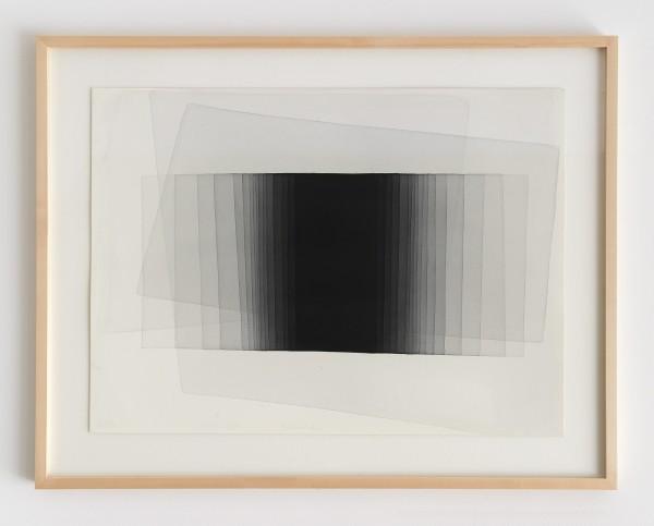 Joachim Bandau #021908 o.T., 13.9.2011 / Stäfa, 2011 Aquarell auf 'Fabriano Artistico' 56 x 76 cm (Ahorn – Rahmen 90 x 70 cm Mirogard Plus)