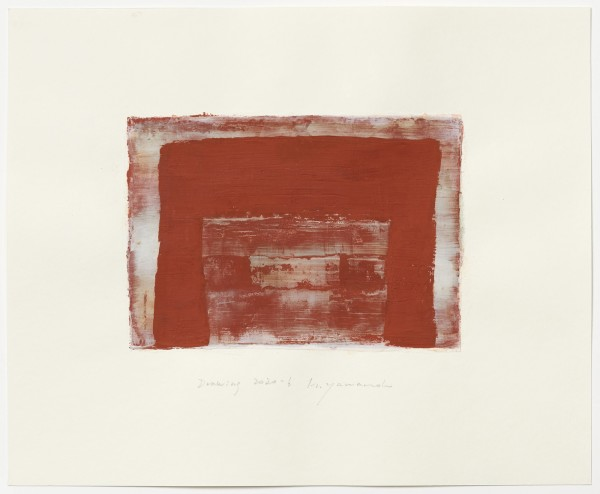 Hideaki Yamanobe #022223 Drawing 2020-6, 2020 Acryl auf Papier Motiv: ca 18,5 x 26 cm; Blatt: 38 x 46,4 cm