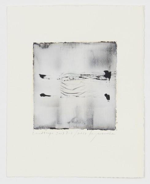 Hideaki Yamanobe #021541 Landscape 2017 S-2, 2017 Acrylic on paper on hand made paper 28,5 x 22,5 cm