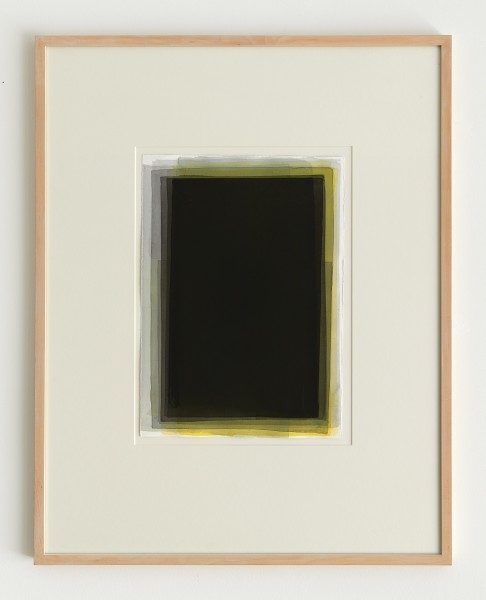 Joachim Bandau #021905 o.T., 1994/1998 Aquarell auf 'Fabriano 5' Bütten 50 x 36 cm (Ahorn - Rahmen 90 x 70 cm Mirogard)
