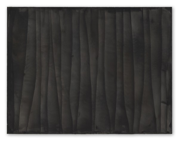 Hideaki Yamanobe #021818 Black Screen, Scratch 2018-5, 2018 Acrylic on nettle 100 x 130 x 4 cm