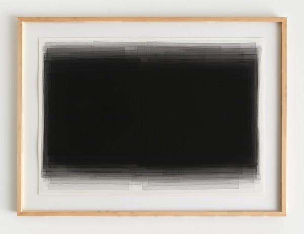 Joachim Bandau #021909 o.T., Mai 2003 / LS IX, 2003 Aquarell auf 'Fabriano 5' Bütten 70 x 100 cm (Ahorn – Rahmen 115 x 85 cm)