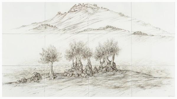 Raffi Kaiser, #020677 Landschaft mit Bäumen, 2013/2014