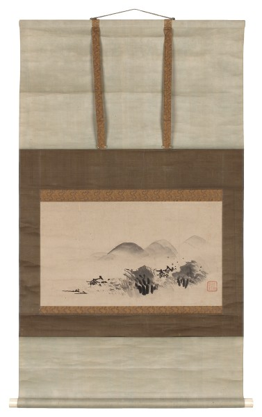 Malerei, #020745 anonymous artist (Kanô school), Autumn Moon Landscape, Edo (1600-1868)