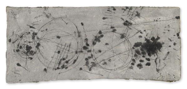 Masamichi Yoshikawa #021921 Shirabe 調 (Harmony), 2015 Tusche auf handgemachtem japanischem Papier 55 x 128 x 1 cm