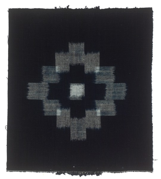 Textilien #004136 Kasuri, Rectangular pattern, 19th C 29,5 x 33,5 cm