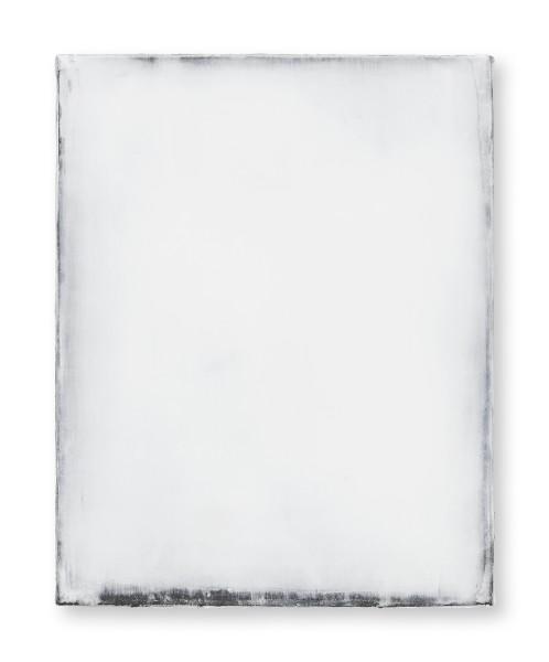 Hideaki Yamanobe #021821 Daylight white 2018-1, 2018 Acrylic on nettle 48 x 38 3,5 cm