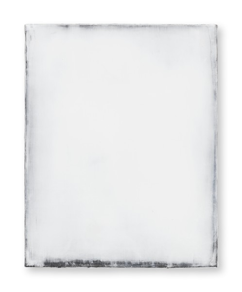 Hideaki Yamanobe #021821 Daylight white 2018-1, 2018 Acryl auf Nessel 48 x 38 3,5 cm
