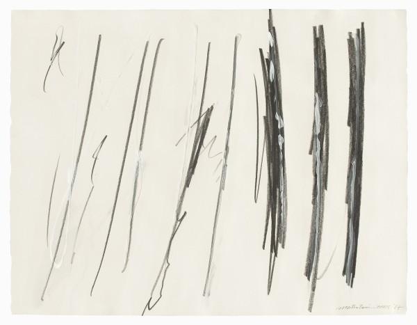 Takesada Matsutani #002433 Ohne Titel, 1987 Graphit, Vinyl und Acryl auf Papier 50 x 65 cm