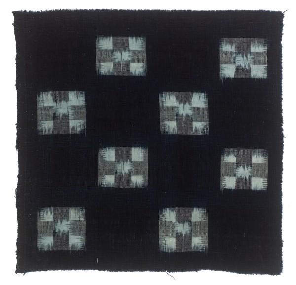 Textilien, #004176 Kasuri, Acht kleine Vierecke, 19. Jh.