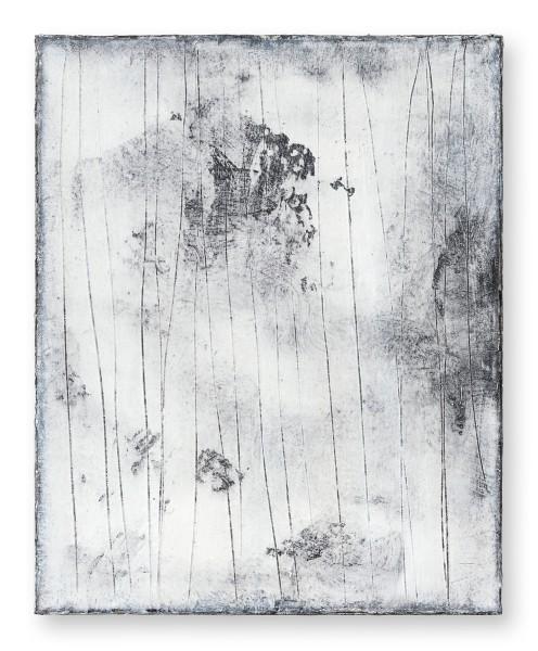 Hideaki Yamanobe #022214 Snow Noise, 2019 Acryl auf Nessel 50 x 40 x 4 cm