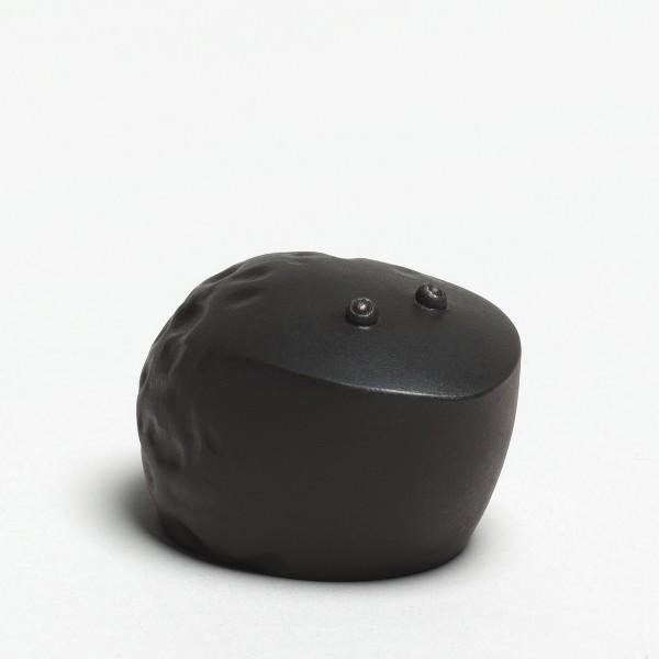 Andreas Caderas. Frösche #021486 Frosch, 2017 Bronze, innen schwarzes Araldite 3,5 x 4,3 x 5,8 cm