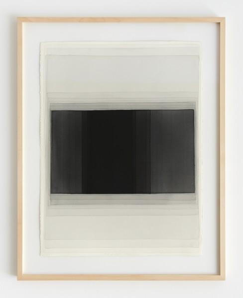 Joachim Bandau #021906 o.T., 28.6.2010 / KR5, 2010 Aquarell auf 'Fabriano Artistico' 76 x 56 cm (Ahorn – Rahmen 90 x 70 cm Mirogard Plus)