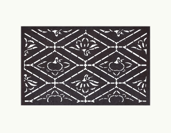Katagami / Uwagami, #016763 Katagami (Textilfärbeschablone), Japan, Späte Edo-Zeit / Meiji-Zeit (2. H. 19. Jh. / Anfang 20. Jh.)
