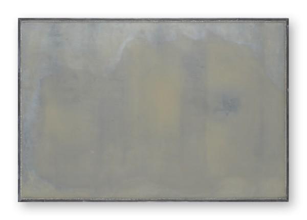 Katsuhito Nishikawa #022030 am Teich / Due Torri, 2009 Öl und Encaustic auf Holz, gerahmt H. 42,5 x 63 cm