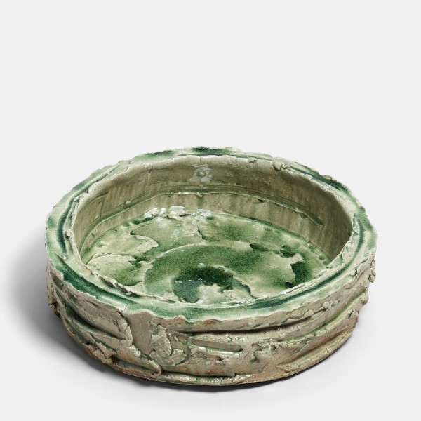 Kei Tanimoto, (#020178) Iga dorabachi - Bowl in the shape of a drumm, Iga-Type, 2008