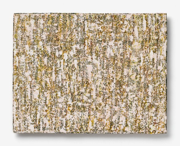 Yuko Sakurai #021590 Ohne Titel, 95/28, 2016 Öl auf Leinwand auf Holz 39 x 50 x 2 cm