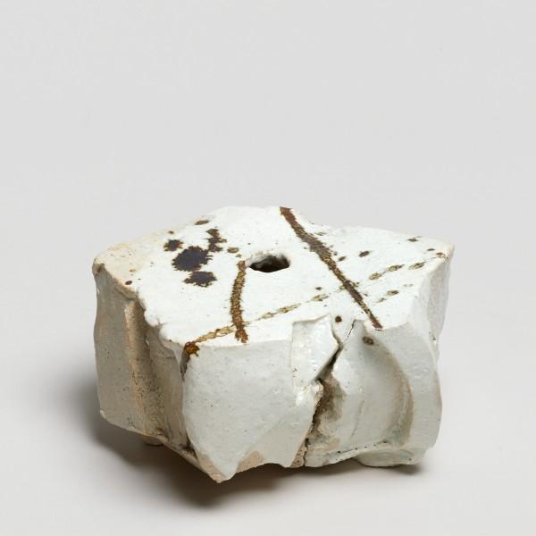 Shozo Michikawa #021847 Topology Form, 2015 Stoneware, kohiki with iron glaze (Published in the book: Shozo Michikawa, Ceramic Art, 2017, page 63) 8,5 x 16 cm