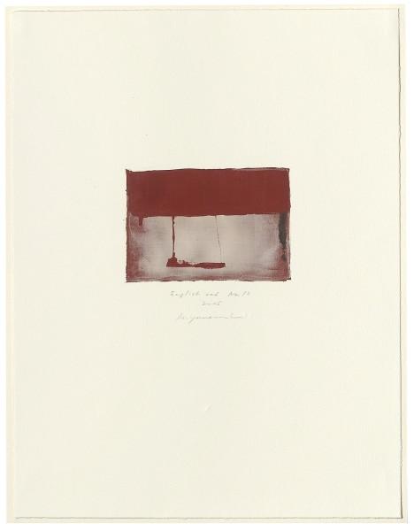 Hideaki Yamanobe, #015063 English red No. 13, 2005