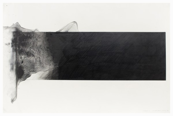 Takesada Matsutani #002444 Nagare 2, 1978 Graphit, mit Terpentin gelöst, auf Papier 80 x 120 cm