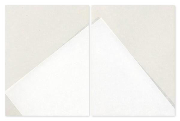 Koichi Nasu #007951 und #007952 8.6.99-A (D) + 8.6.99-B (D), 1999 Aquarell auf Papier auf Aluminiumplatte 2-teilig (je 40 x 30 x 1,5 cm)