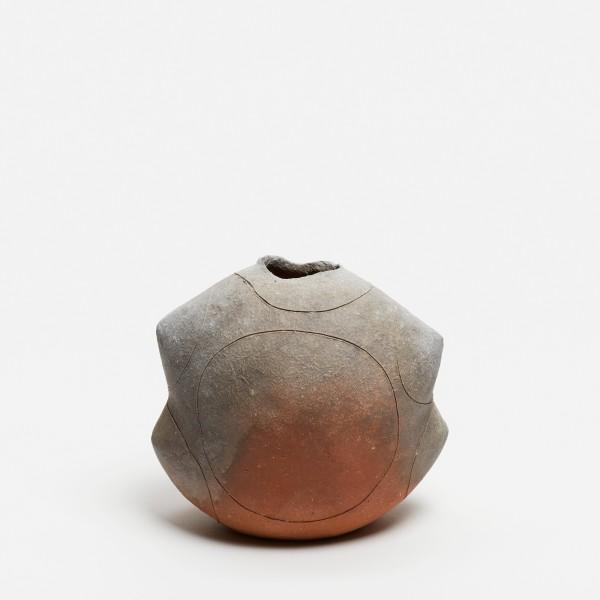 Yasuhisa Kohyama #022064 Suemono (antike Keramik), Vase, 2018 Steinzeug, Anagama-Brand 14,5 x 14 x 10 cm